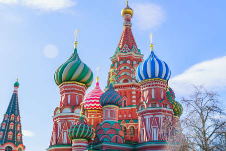 St Basil's cathedral on Red Square in Moscow. 免版税图像