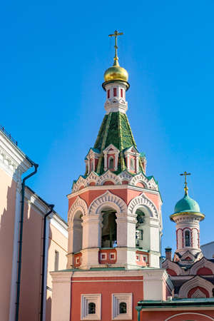 Bell tower of Kazan Cathedral at Red Square in Moscow