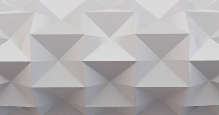 White folding paper. Origami background. 3D illustration