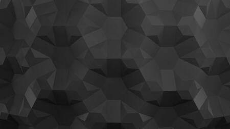 Honeycomb. Black folding paper. Origami tessellations background. 3D illustration