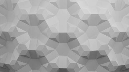 Honeycomb. White folding paper. Origami tessellations background. 3D illustration Stock Photo