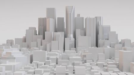 White city layout. 3D render Stock Photo
