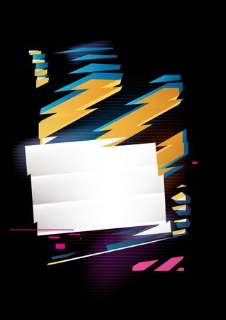 Abstract composition of rectangle and stripes. Vector shapes with refraction effect. Place for text or image Stock Photo