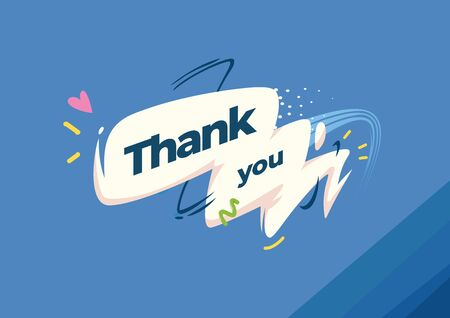 Thank you. Speech bubbles with graphic elements. Motion style illustration