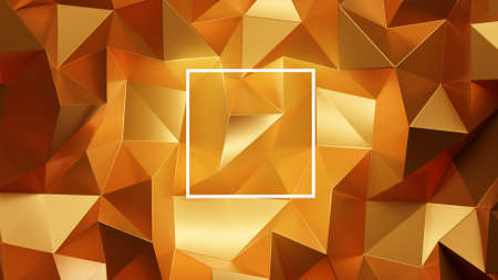 Abstract Gold low poly background