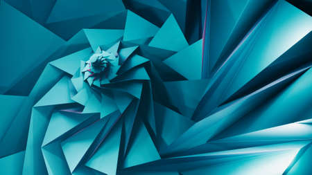 Circle tessellation origami. 3D illustration