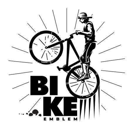 Biker in a jump