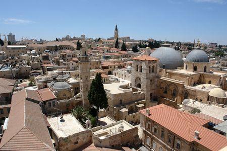 Jerusalem, city of three religions,                               Stock Photo