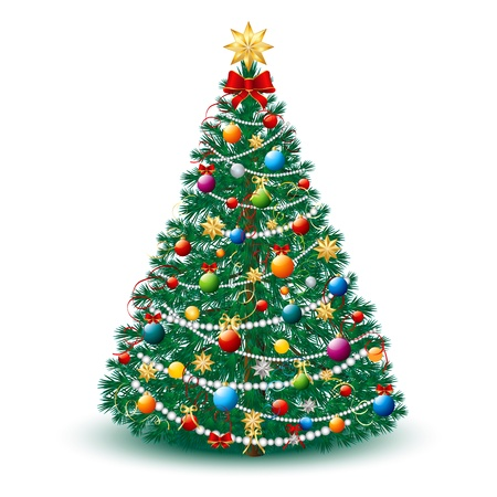 Beautiful Christmas Tree EPS 10