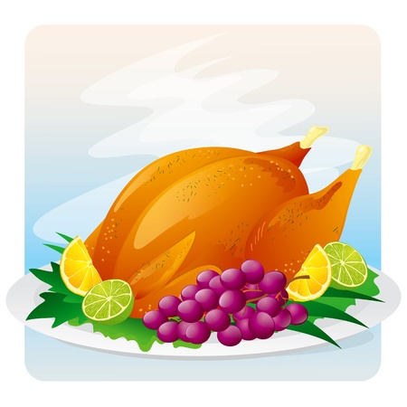 Roasted Chicken icon Stock Vector - 17420664