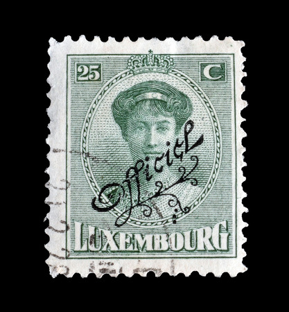 overprint: Luxembourg stamp 1922 Editorial