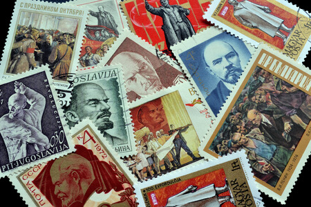 theorist: Postage stamps in which Russian communist revolutionary, politician and political theorist Vladimir Lenin is the central theme
