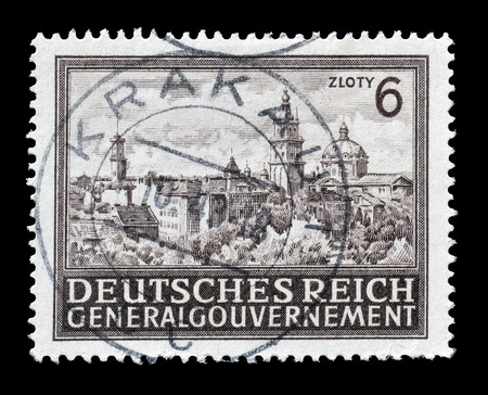 lemberg: Germany, circa 1943 : Postage stamp printed by Germany, that shows Lemberg.