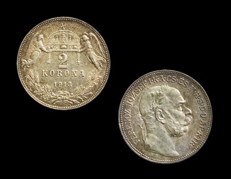 numismatist: 2 korona silver coin made 1913 Stock Photo