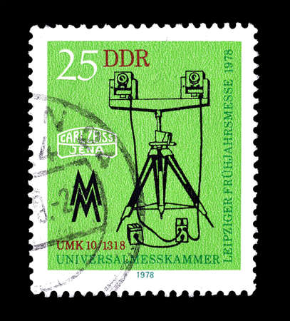 philately: Cancelled postage stamp printed by German Democratic Republic, that shows Gauge, circa 1978.