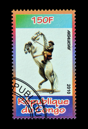 postage: Cancelled postage stamp printed by Congo, that shows Andalucian, circa 2010. Editorial