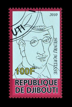 henri: Cancelled postage stamp printed by Djibouti, that shows Henri Matisse, circa 2010.