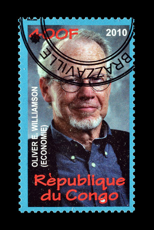 Congo: Cancelled postage stamp printed by Congo, that shows Oliver Williamson, circa 2010.