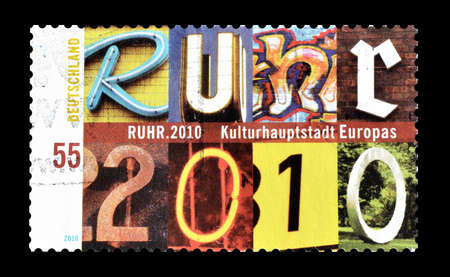 ruhr: Cancelled postage stamp printed by Germany, that shows Ruhr, circa 2010. Editorial