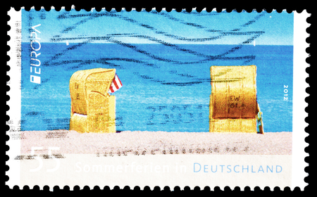 Cancelled postage stamp printed by Germany, that shows Beach, circa 2012.