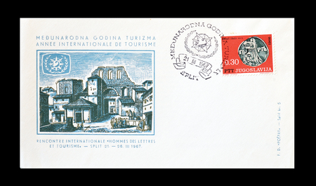 yugoslavia: Cancelled First Day Cover Letter printed by Yugoslavia, that promotes Tourism circa 1967. Editorial