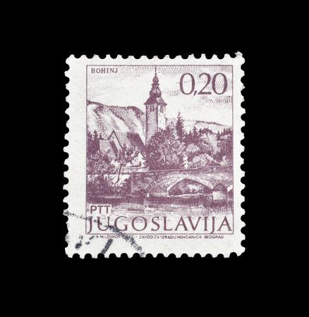 ユーゴスラビアが印刷した郵便切手の取り消しは、1981年頃のボヒニを示しています。