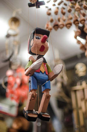 toyshop: Puppet on a string Stock Photo