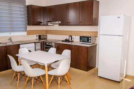 Kitchen with furniture Zdjęcie Seryjne
