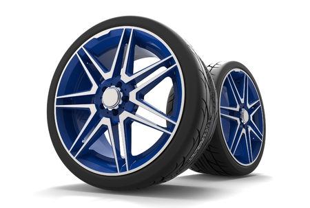 3d illustration of the car rims Stock Photo