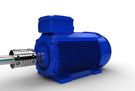 3d illustration of electric motor