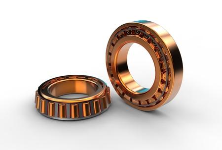 3D illustration of tapered roller bearing