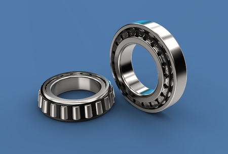 3D illustration of tapered roller bearing