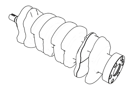3d illustration of crankshaft