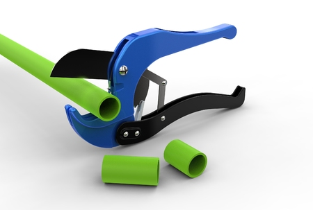 3d illustration of pipe cutter