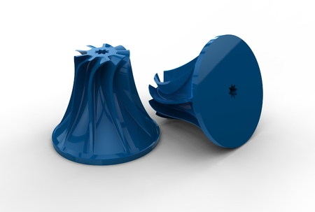 impeller: 3D illustration of turbo impellers