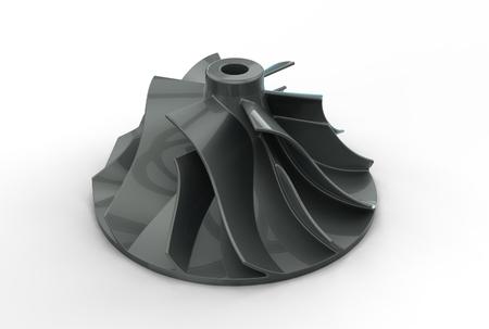 impeller: 3D illustration of turbo impeller