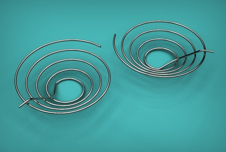 3d illustration of the pipe coils Stock Photo