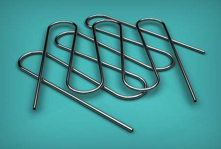 3d illustration of the pipe coils Stock Illustration - 79699296