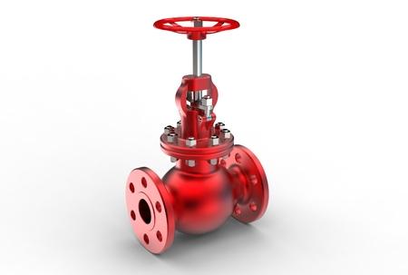 3d illustration of gas valve Stock Photo