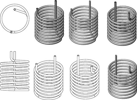 3d illustration of the pipe coil Stock Illustration - 79425287