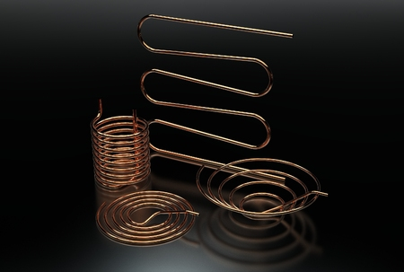 3d illustration of the pipe coil Stock Photo