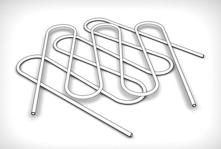 3d illustration of the pipe coil Stock Illustration - 79449790