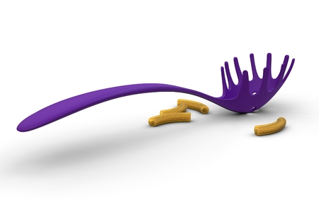 europe closeup: 3d illustration of pasta scoop Stock Photo