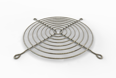 3D illustration of fan grill