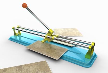 3d illustration of tile cutter