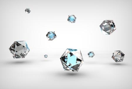 3d illustration of icosahedron Banco de Imagens