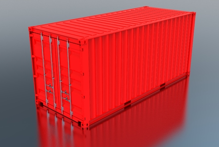 3d illustration of iso container Reklamní fotografie