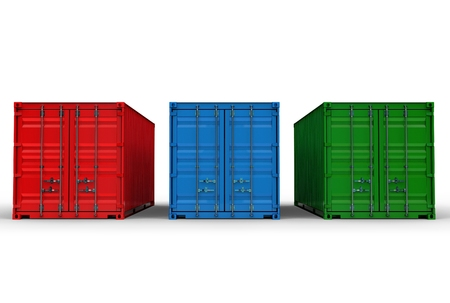 refrigerated: 3d illustration of iso container isolated on white Stock Photo