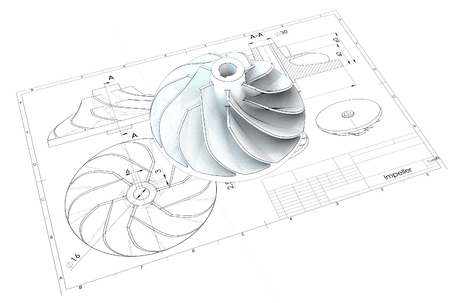 3d illustration of turbo impeller Imagens - 91119560
