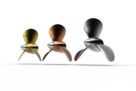 3d illustration of propellers isolated on white